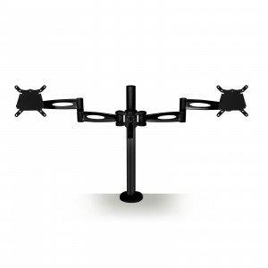 Black Dual screen desk mount