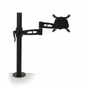 Black single screen desk mount