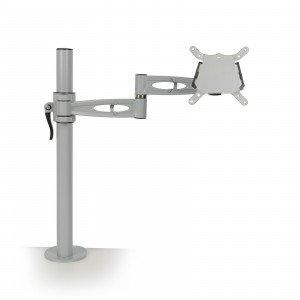 Grey Single screen desk mount